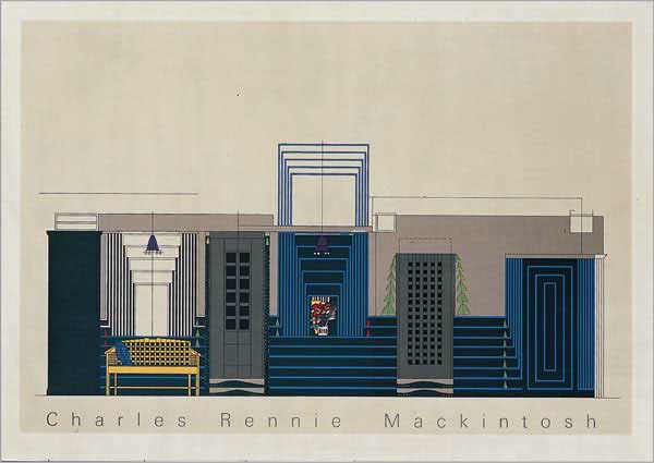 Mackintosh Willow Tearooms Interior Study 1917